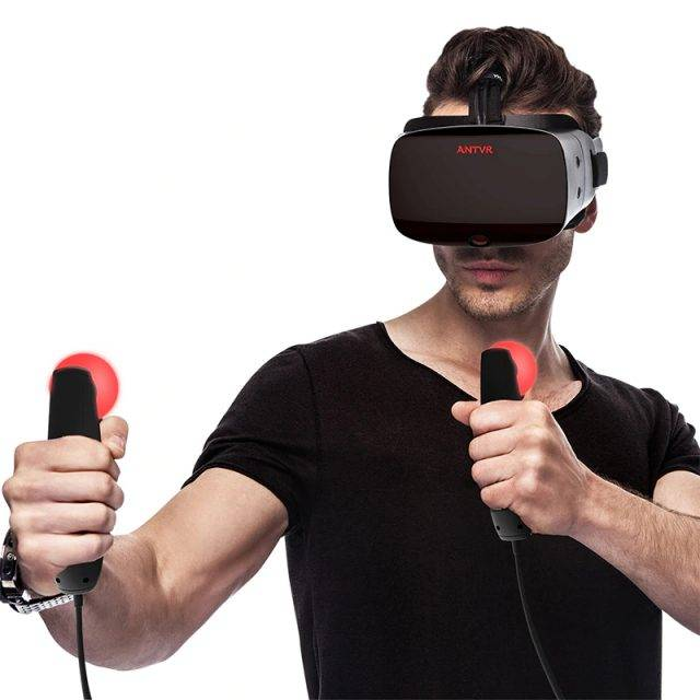 Virtual Reality Glasses and Controllers with Gesture Recognition Gadget Accessories Games Accessories & Virtual Reality