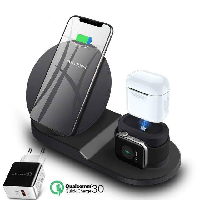 Wireless Universal Black Phone Charger Chargers & Cables Gadget Accessories
