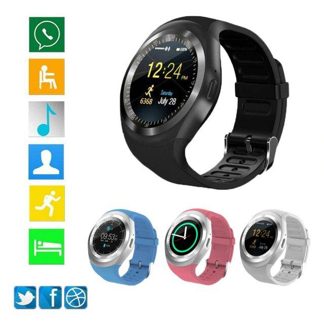 Smart Round Silica Gel Watch Smart Electronics Watches & Wristbands