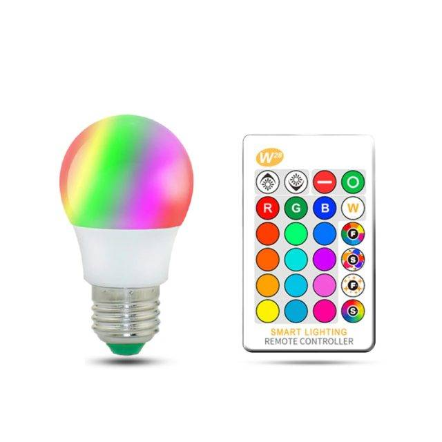 LED Bulb with Remote Control Lights Smart Electronics