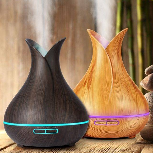 Wood Aroma Essential Oil Diffuser Gadgets Smart Electronics