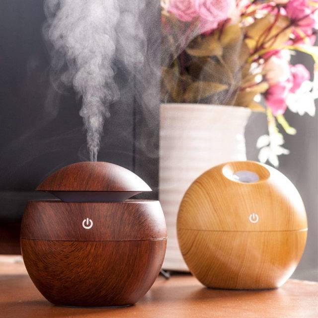 USB Round Aroma Essential Oil Diffuser Gadgets Smart Electronics